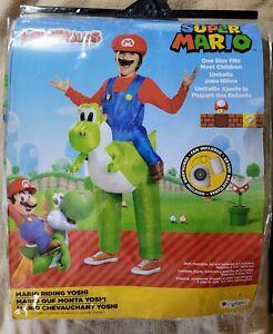 Super Mario Bros - Mario Riding Yoshi - Kid's Inflatable Halloween Costume