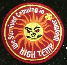 We Survived Camping in High Temp Weather Patch Sun Temperature BSA Boy Scouts