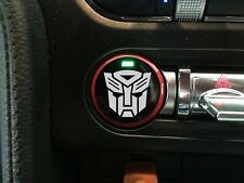 """2015-2019 Mustang [PBSH_AB] Push Button Decal """"AUTOBOT"""" Overlay"""