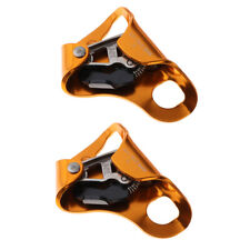2Pcs Chest Abdominal Ascender for Vertical Rope Locking Pulley Rock Climbing