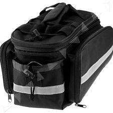 Mountain Bicyce Bike Cycling Rear Seat Bag Expandable Saddle Back Rack Travel