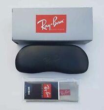 Ray Ban Hard Black Sunglasses Case with Original Cloth & Box