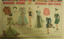 Brenda Starr Sunday with Large Uncut Paper Dolls from 12/13/1942 Full Size Page