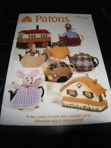 Patons 8 Tea Cosies To Knit & Crochet Patterns Using DK & 4PLY