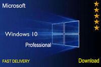 WINDOWS 10 PRO 32 / 64 BIT PROFESSIONAL LICENSE KEY ORIGINAL CODE SCRAP PC