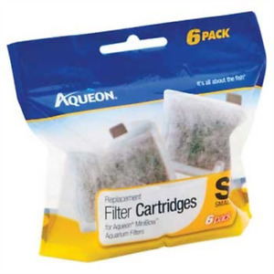 Aqueon Replacement Filter Cartridges Small 6 pack