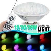18/30/36W Par56 RGB LED Underwater Swimming Pool Light Lamp + Romete  P L F R