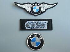 BMW KIT ARGENTO 3 TOPPE PATCH RICAMATE TERMOADESIVE