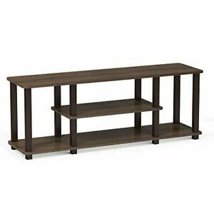 Turn-N-Tube 3-Tier Entertainment TV Stands, Square, Walnut/Brown