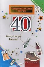 Congratulations You're 40 Birthday Greeting Card