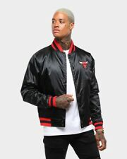 CHICAGO BULLS NIKE COURTSIDE REV SATIN JACKET BOMBER STARTER MITCHELL & NESS