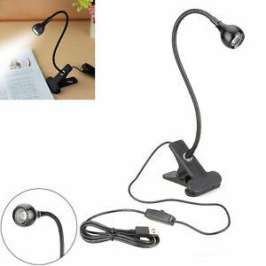 USB Flexible Reading LED Light Clip-on Beside Bed Desk Table Lamp Book Light New