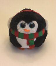 "Ty Beanie Ballz Icicles Penguin Christmas Plush 5"" 2013 No Hang Tag"