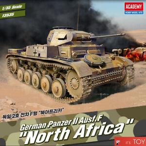 "Academy 1/35 German Panzer II Ausf.F ""North Africa"" Tank Plastic Model Kit 13535"