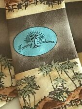Tommy Bahama NeckTie Nice 100% Silk Beach, Huts And Palm Trees Tie