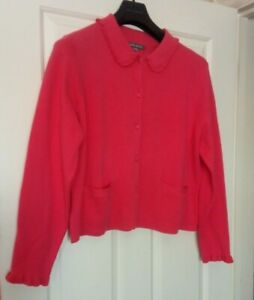BNWT Laura Ashley cardigan 100% UK16 cotton lovely pink feminine boxy