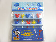 NEW!! Disney Mickey Mouse straight Food Picks Bento Accessories FREE SHIPPING