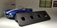 Black Classic Car Lucas Type Accessory 4 Toggle Switch Panel Bracket Mount 1960