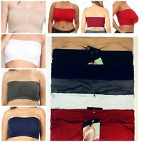 TUBE TOP BRA BANDEAU SEXY 3 OR 6 Women Bras Strapless Removable Pads Plus Size