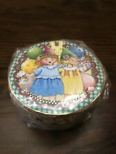 Mary Engelbreit Round Gift Trinket Box Party Girl Pooch & Sweetheart