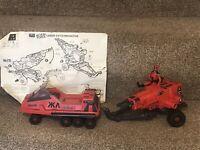 GI Joe Red Shadows Laser Exterminator Gun/vehicle Action Force Vintage RED LASER