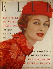 Elle n°580- 1957 - Mode l'avant garde de la Mode 57 - Les Jupes tricots -