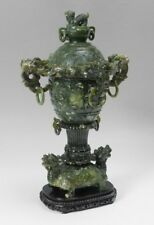 53cm tall, huge antique Chinese spinach Jade vase