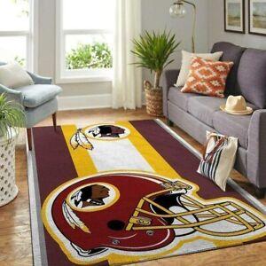 Washington Redskins Area Rug Fluffy Floor Mat Living Room Rug Anti-Skid Carpet