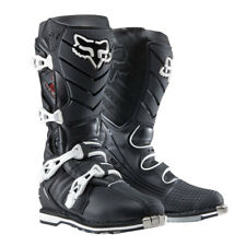 Fox Racing F3R Offroad MX Dirt Boots Black with White Buckles Size 14 US