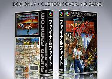 FINAL FIGHT. JAPAN VERSION. Box/Case. Super Nintendo. BOX + COVER. (NO GAME).