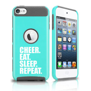 For Apple iPod Touch 5th 6th Shockproof Case Cheer Eat Sleep Repeat Cheerleader