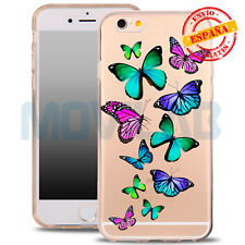 Funda carcasa gel / TPU Apple Iphone 6 / 6S transparente dibujos Mariposas