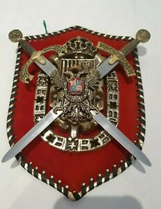 Decorative Medieval Coat of Arms Shield / Plaque Wall Hanging Spanish knights