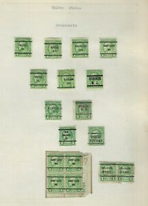 United States Classics...PRE-CANCELS 1922/32...1 cent...Lot of 17