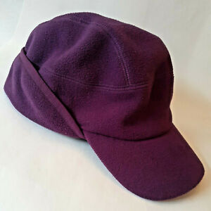 Duluth Trading Women's Ear Flap Ponytail WARM Hat Ball Cap Fleece Black L/XL