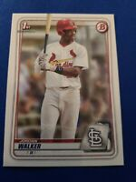 2020 Bowman Draft  #BD-57 JORDAN WALKER ST. LOUIS CARDINALS 1ST RD DRAFT PICK