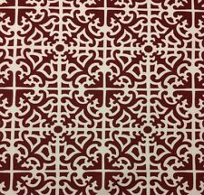 "WAVERLY PARTERRE LACQUER RED MEDITERRANEAN TILE DAMASK FABRIC BY THE YARD 54""W"