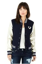 True Religion $329 Women's Horseshoe Varsity Wool Jacket - WL9B348EYY