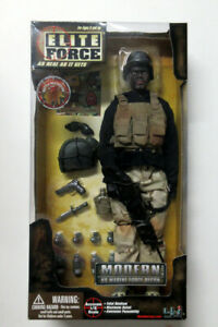 Elite Force Modern US Marine Force Recon No.21379 Figure Blue Box Toys AfricanAm