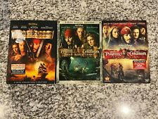 Tested Dvd Lot - Pirates of the Caribbean Movies 1-3 - Dead Man's Black Pearl +