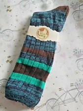 GIRLS WOMENS Winter Cotton Blend Boot Socks Knit Weave Long Warm Thick 1 PAIR B4