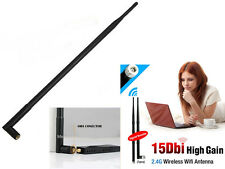 2.4 GHz 15 DBI RP-SMA Wireless WLAN Antenna Aerial WIFI PCI Card Modem Router