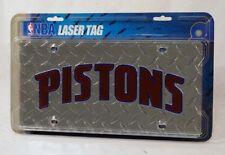Detroit Pistons NBA Laser Cut Diamond Plate License