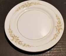 MIKASA Fine China EATON 5722 Bread & Butter - White Golden Flowers Gold Trim