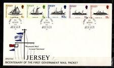 Jersey  enveloppe  bicentenaire 1er service postal par bateaux-poste    1978