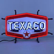 Texaco Gasoline & Motor Oil Neon Sign - Gas - The Texas Company - Hexagon