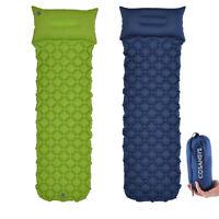 Inflating Mat Outdoor Tent Sleeping Pad Hiking Pillow Air Mattress Camping Car