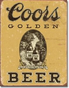 New Coors Golden Beer Decorative Metal Tin Sign