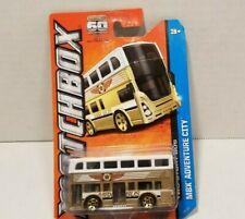 Matchbox 60th 2013 #1 MBX Adventure City Two Story Double Decker MBX Bus Gold