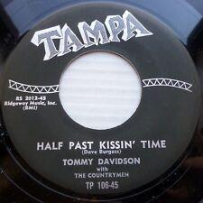 TOMMY DAVIDSON rockabilly 45 repro reissue Tampa HALF PAST KISSIN TIME  jr239